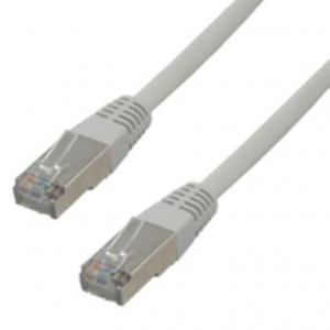 Pack de 5 cables RJ45 FTP CAT6 - 0,5m moldeado - Gris