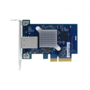 Single-port (10Gbase-T) 10GbE network expansion card, PCIe Gen2 x4, Low-profile bracket pre-loaded, Low-profile flat and Full-height are bundled
