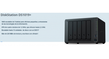 Synology NAS DS1019+ formato torre 5 bahías