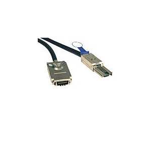 Cable mini SAS Infniband a pinzas-  1 metro - SFF-8470 x4 pince, SFF-8088 x4 pince -1M