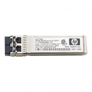 HP 8Gb Shortwave B-series fibra Channel 1 Pack SFP+ Transceiver - New Retail
