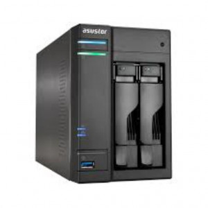 ASUSTOR NAS 2HDD Intel CeleronN3050 1.6GHz(up to 2 GbE x 2, USB 3.0 & eSATA, WoL, System Sleep Mode,