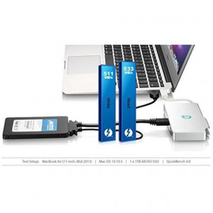 Mini Thunderbolt Hub/SSD Reader with eSATAx2