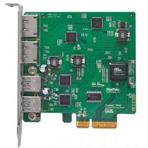 Highpoint RocketU 1144E - Tarjeta PCI 2 x USB 3.0 et 2 x eSATA 6Gb/s externa- PCI-Express 2.0 x4 - Mac/Win/Linux/FreeBSD