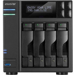 "ASUSTOR NAS AS7004T-I5 2XGBE 4 bahías 2,5/,35"" Intel Core i5-4590S 3.0GHz (Quad-Core) - 2XGBE LCD PANNEL"