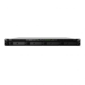 NAS Synology Rack (1 U) RS818+ Chasis para 4 bahías HDD (alim. simple)