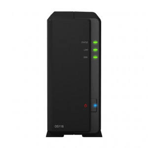 NAS Synology Torre DS118 2TB (1 x 2 TB) Disco NAS IronWolf Pro