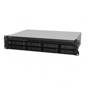 NAS montado  Synology Rack (2U) RS1219+ 64TB (8x8TB)  con discoss NS