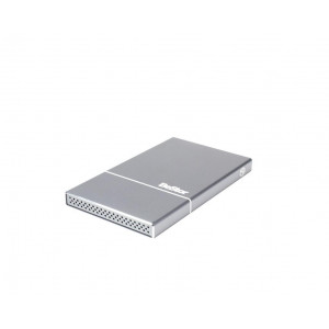 "Caja BeStor para HDD o  SSD 2,5"" SATA (7mm maxi) - interface USB-C - aluminio SPACE GRAY - cable USB-C/C y  USB-C/3.0"