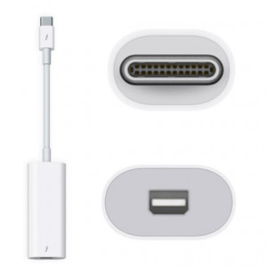 ADAPTADOR DE THUNDERBOLT 3 (USB-C) A THUNDERBOLT 2 (APPLE REVERSIBLE)