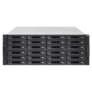 NAS montado  QNAP Rack (4U) TS-2483XU-RP-16G 144TB (24x6TB)  con discos WD RED PRO